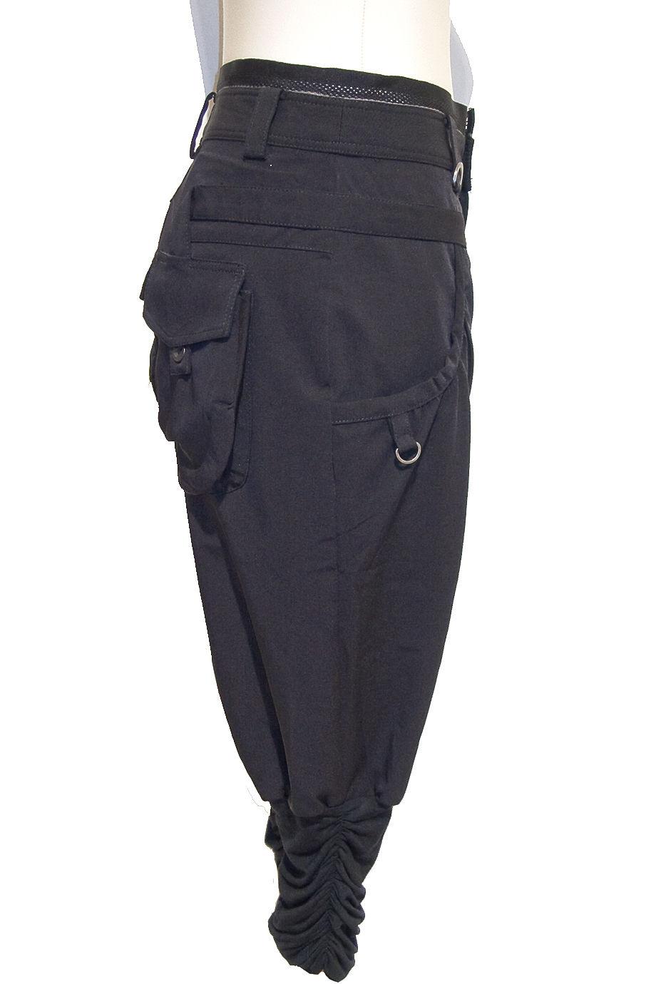 Cargo Cropped Pants Black