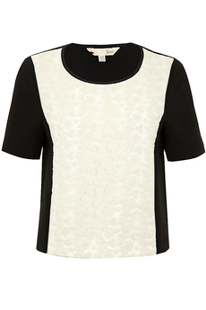 The Organza Extravaganza  top cream/black