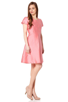 Phyllis dress bright pink
