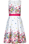 Tulip Bouquet Jacquard Prom-dress ivory