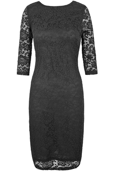 Stretch Lace dress black