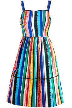 Mexican Stripe Cotton Sun-dress multi