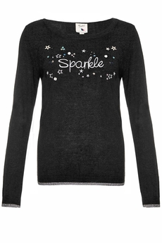 Sparkle and Embellished Sweater black