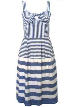 Chambray Stripe Cotton Sun-dress
