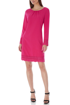 Shift Lace Detail dress fuchsia