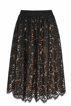 Lace Midi skirt black