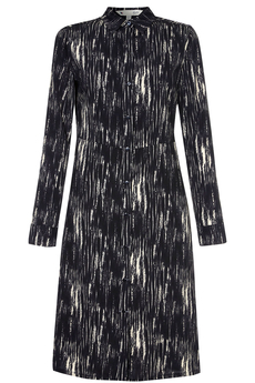 Winter Print Shirt-dress black