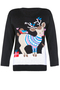 Christmas Woodland Creature Sweater black