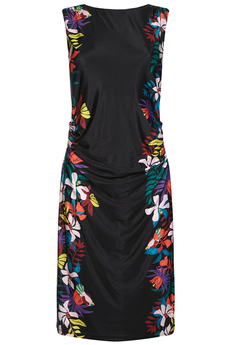 Jungle Floral Jersey dress black