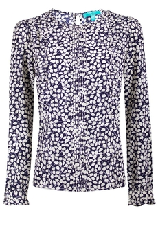 Morris blouse navy/cream