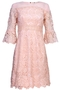Guipure Lace Evening dress blush