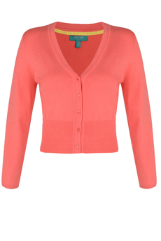 Mariel Cropped Cardigan punch