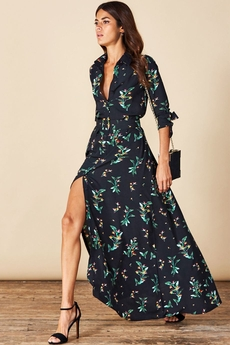 Dove Shirt-Dress Midnight Paradise