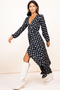Jagger Maxi Wrap-Dress Painted Dot