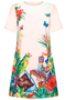 Mexican Garden Tunic-dress light peach