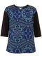 Deco Tribe Print top blue