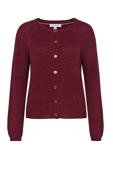 Ella Burgundy Knitted Cardigan