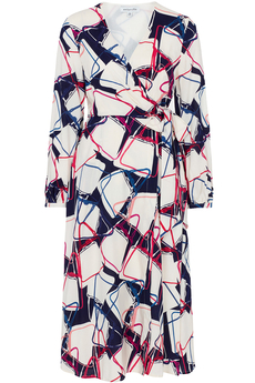 Luna Wrap Dress Abstract Handbags