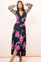 Jagger Maxi Wrap-Dress mix Pink Peony