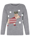 Christmas Sausage Dog Sweater grey