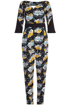 Cloud Pattern Jumpsuit black