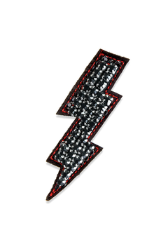 Lightning Bolt pin black