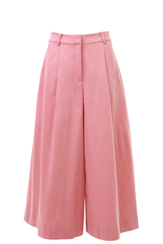 Lori Pink Stretch Cotton Culottes