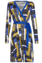 Patchwork Print Jersey Wrap-dress multi