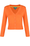 Mariel Cropped Cardigan orange