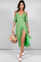 Ivy Dress in Green Dotty