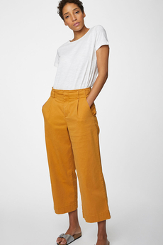 Justina Organic Cotton Culottes saffron yellow