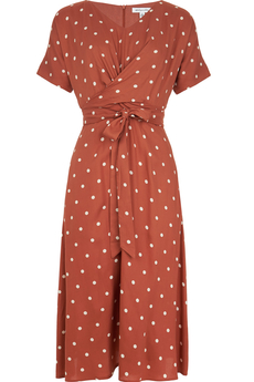 Belle Desert Rose Dot Dress