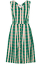 Scarlett Botanical Plaid Cotton Dress