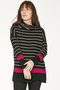 Emery Organic Cotton & Wool Roll-Neck Sweater Black