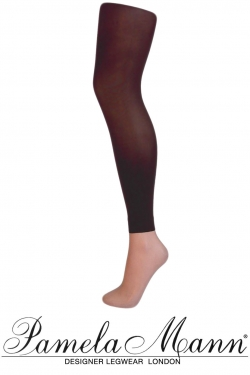 3D footless tights chocolate