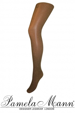 Lurex Fine Net Tights black/gold