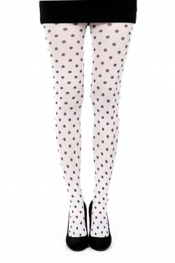 Polka Dots A Printed Tights white/black