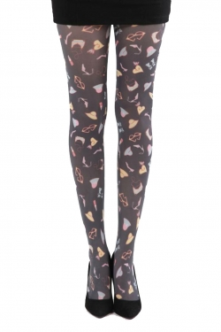 Shoe Bag Print tights multi