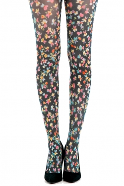 Small Ditsy Floral Printed Tights multi