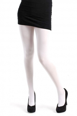 40 Denier Velvet Tights white
