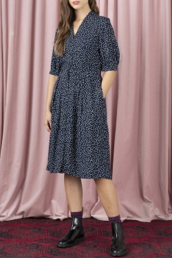 Stella Shirt Dress in Scattered Spot