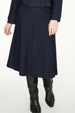 Viola Organic Cotton Half Circle Midi Skirt