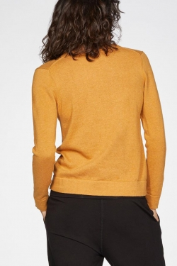 Loren Organic Cotton Cardigan Amber Yellow