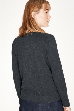 Loren Organic Cotton Cardigan Midnight Navy