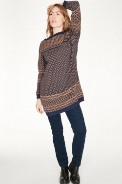 Leta Organic Cotton & Wool Knitted Sweater-Dress