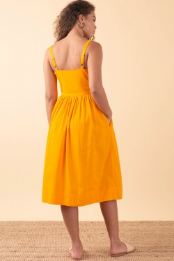 Salma Sunshine Cotton-Linen Sun-Dress