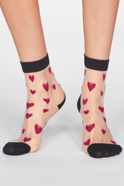 Zari Heart Recycled Nylon & Bamboo Socks