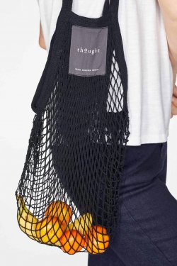 Organic Cotton String Bag Black
