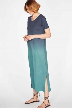 Eliana Dip Dye Organic Cotton & Tencel™ Jersey Long Dress