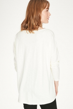 Patience Organic Cotton Pintuck Jersey Blouse
